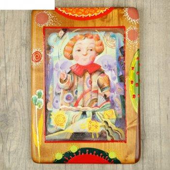 Панно декоративное ангел. воздушный змей 20х30 см