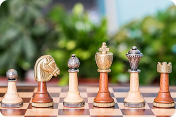 Шахматы классические «staunton with wood» 33х33см