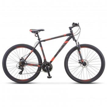 Велосипед 29 stels navigator-900 md 29 f010 цвет чёрный/красный размер 17.