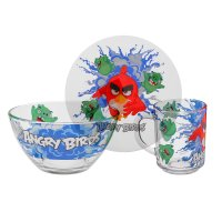 Набор посуды angry birds. рэд, 3 предмета: кружка 250 мл, салатник d=13 см