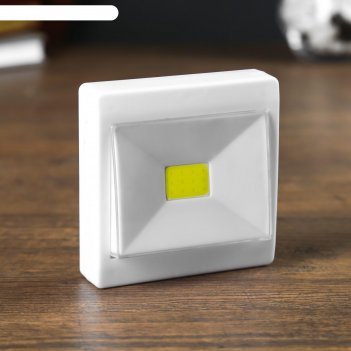 Ночник led пластик на магните от батареек выключатель однокнопочный 2,5х8х