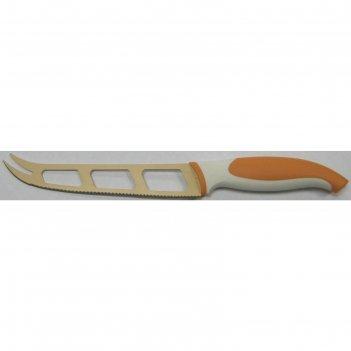 Нож для сыра atlantis, 13 см, оранжевый