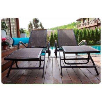 Кресло шезлонг лежак раскладное portofino цвет коричневый