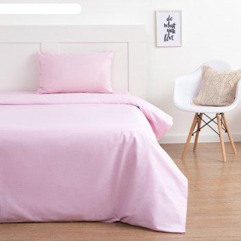 Постельное бельё этель 1, 5 сп «розовый горох», 143х215 см, 150х214 см, 50