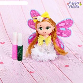 Кукла-малышка юленька «создай крылья своей мечты»: два геля с блёстками, м
