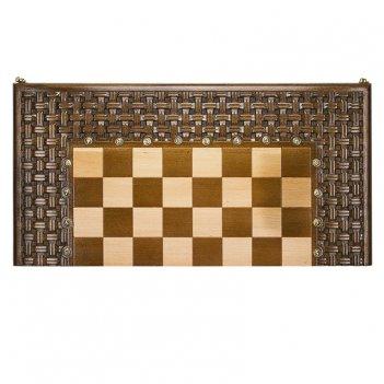 Шахматы + нарды резныеармянский орнамент 60