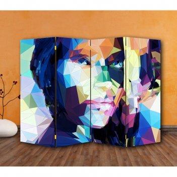 Ширма портрет, двухсторонняя, 200 x 160 см