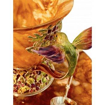 Чашка чайная колибри 4201/l (серебро)