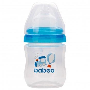 Бутылочка baboo с соской силик. (широкая)  130 мл. transport ,0 мес+