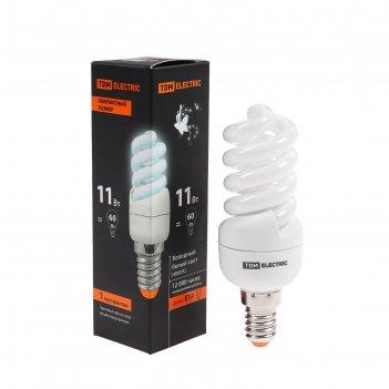 Лампа энергосберегающая tdm клл-fsт2 компакт, 11 вт, е14, 4000 к, 35 х 102