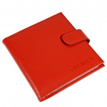 Кредитница (2 ряда), н/к, цвет красный v-144-535