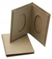 Двойная фоторамка в форме книжки из папье-маше, 17,5 х 12,5 см