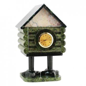 Часы со шкатулкой избушка змеевик