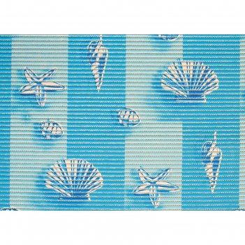 Коврик для ванной комнаты 0,80х15 м прибой цвет голубой