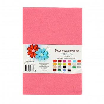 Фетр soft 2мм, 21*29,7 см (набор10 листов) розовый flt-s2-04