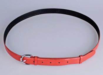 00317 пояс ремень женский  кожаный, трехслойный, прошитый, не прошитый. ши