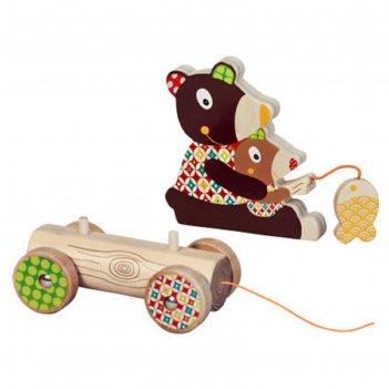 Игрушка-каталка ebulobo «мишка», большая