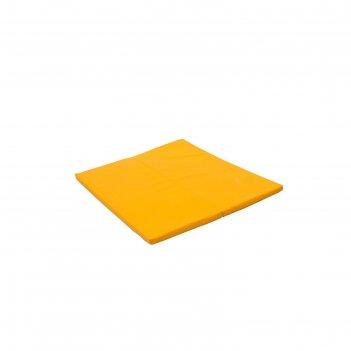 Мат № 16, 135 х 123 х 4 см, складной, perfetto sport, для ps 231, цвет жёл