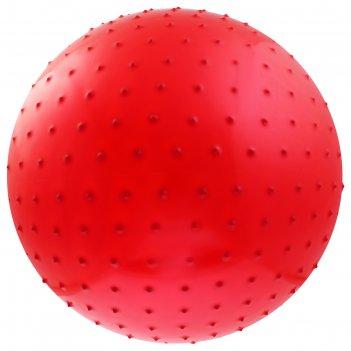 Мяч гимнастический массажный d=65см 800гр, цвета микс
