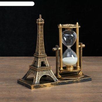 Часы песочные эйфелева башня, 15.5х6.5.х16 см, микс
