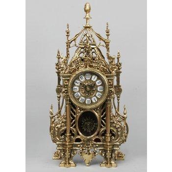 5392 часы с ландышамис маятником зол.46х24см