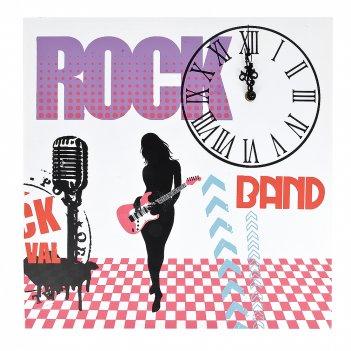 Часы декоративные (настенные) rock-n-roll 40*40*2см. (батарейк