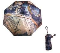 Зонт женский деньги и лупа, механический, 5 сложений, прорезиненная ручка