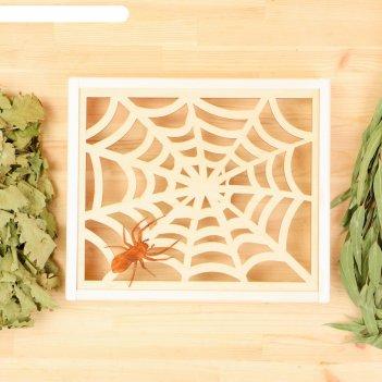Абажур угловой паутина с пауком, липа добрая баня