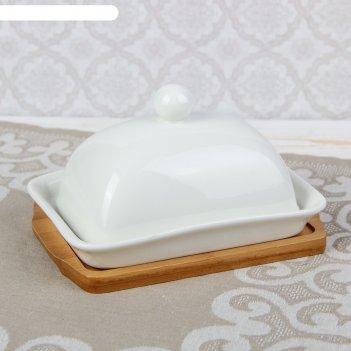 Масленка эстет, на деревянной подставке