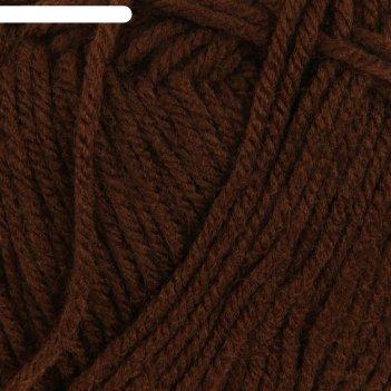 Пряжа удачный выбор 100% акрил высокообъемн. 200м/100гр (251-коричневый)