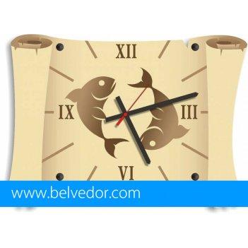 Часы настенные рыбы 39х28 см
