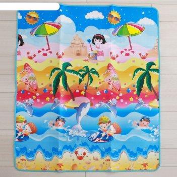 Коврик детский на фольгированной основе «морской мир», размер 176х150 см