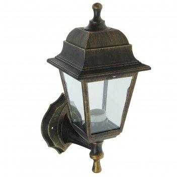 Светильник садово-парковый нбу 04-60-001, настенный, четырехгранник, бронз