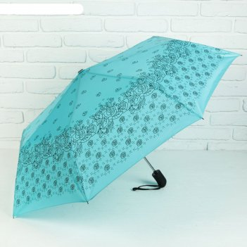 Зонт полуавтомат, r=55см, цвет синий