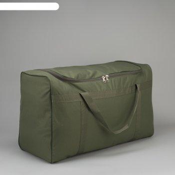 5002 п-600 сумка дорожная 78*35*50, отд на молнии, ремень, хаки