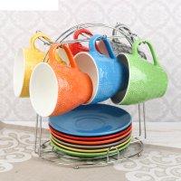 Набор чайный акварель, 12 предметов: 6 кружек 240 мл, 6 блюдец, на подстав