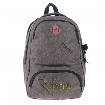 Рюкзак  молодежный эргоном.спинка stavia 40*28*18 экстрим, коричневый 6723