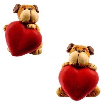 Фигурка декоративная собака, 9.7x9.4x11.8 см, 2в. (без инд.у...