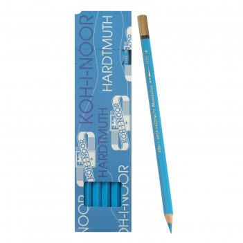 Карандаш акварель.k-i-n mondeluz3720/018,синий светлый, дл175мм, грифель3,