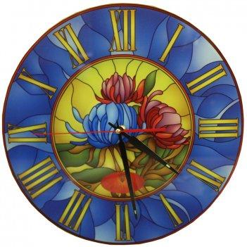 Настенные часы тиарелла витраж-5 из стекла