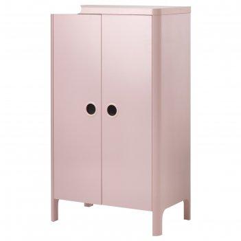 Шкаф платяной бусунге, 80x139 см, светло-розовый