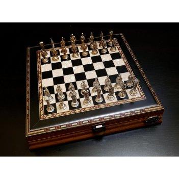 Шахматы илиада мини венге антик, 25х25х4см