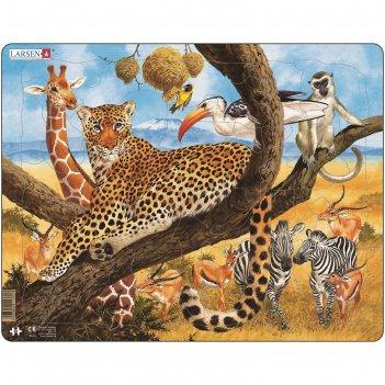 Пазл леопард, 48 деталей (fh8)