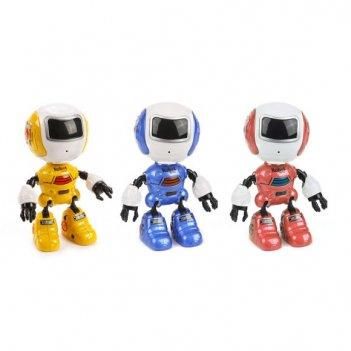 Робот эл., косморобот, 12см, свет, звук, запись голоса, эл.пит.3*ag13 вх.в