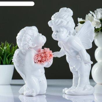 Фигура ангелы целуются набор из 2шт, 28см