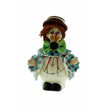 30046 клоун в бело-голубом h8 cm