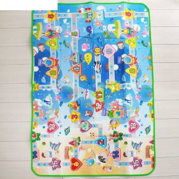 Коврик детский на фольгированной основе «дороги», размер 180х120 см