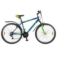 Велосипед 26 foxx atlantic, 2018, цвет синий/зеленый, размер 20