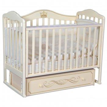Кроватка «антел» alita-77, универсальный маятник, ящик, цвет слоновая кост