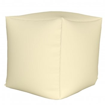 Пуфик куб мини, ткань нейлон, цвет белый